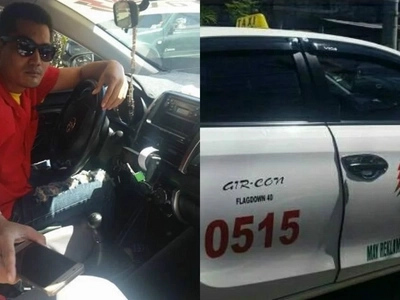 Mabuhay ka kuya! Ilonggo taxi driver earns our respect with his noble deed to his passenger