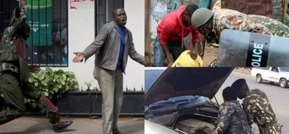 Forget about police brutality, these photos are enough to prove Kenyan police officers are human