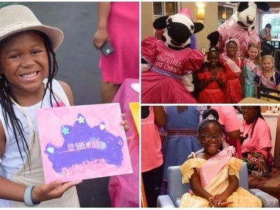 Girl, 7, throws a princess party at Disney World for girls in foster care