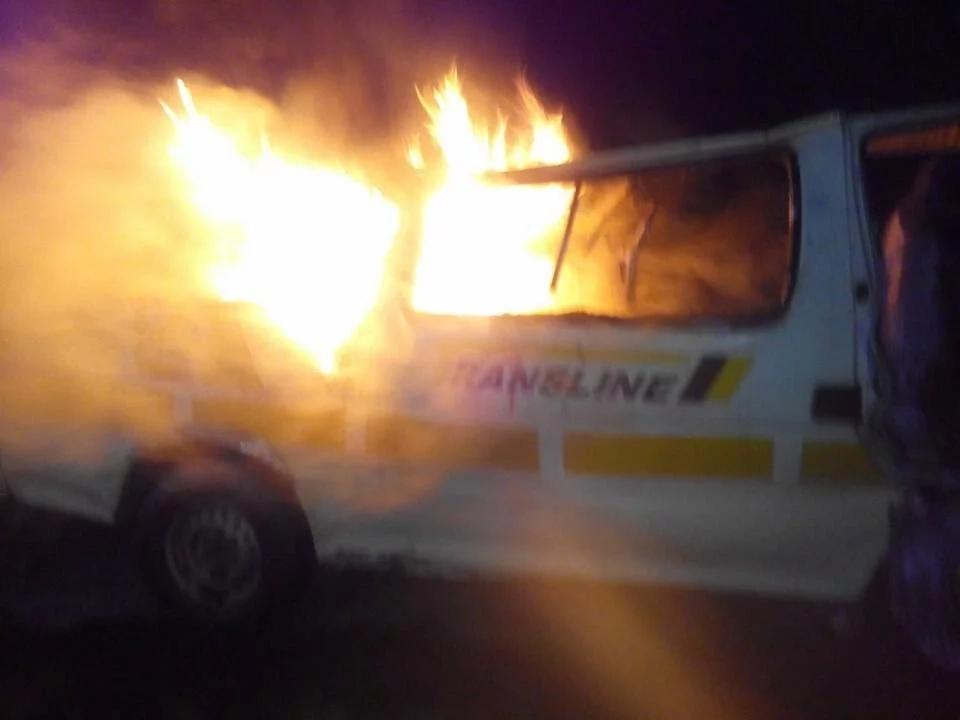 6 people burnt to death in a matatu near Mai Mahiu (photos)