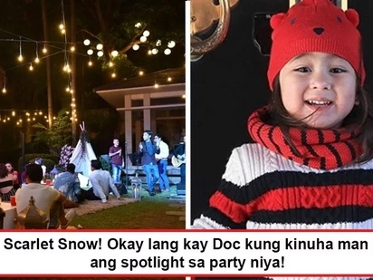 Sobrang cute kaya 'niya! Scarlet Snow grabs the spotlight from Doc Vicki as she renders a classic song during Doc's Coachella party