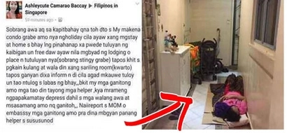 OFW forced to sleep outside the flat while her employer was away for a vacation. Allowance wasn't given either