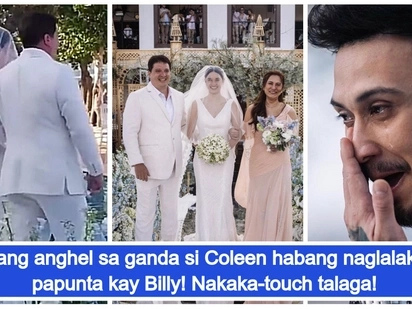 Video of Coleen Garcia walking down the aisle during their wedding in Balesin