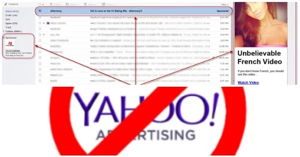 How to remove advertisements on Yahoo mail inbox