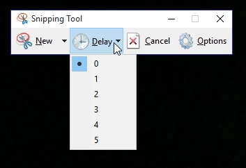 snipping tool delay for screenshots on windows