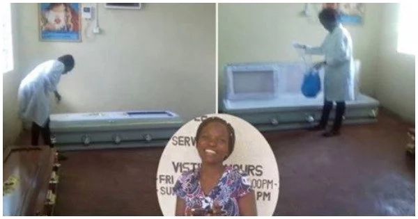 """😂 """"I love the dead"""" — Kenyan female Mortuary attendant says, as she gets dumped by her boyfriend....."""