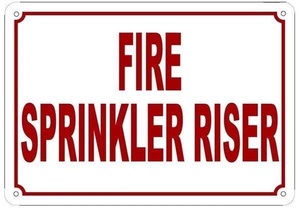 Sprinkler room sign (How to identify the sprinkler room)