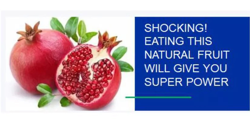 SHOCKING! EATING HIS NATURAL FRUIT WILL GIVE YOU SUPER POWER