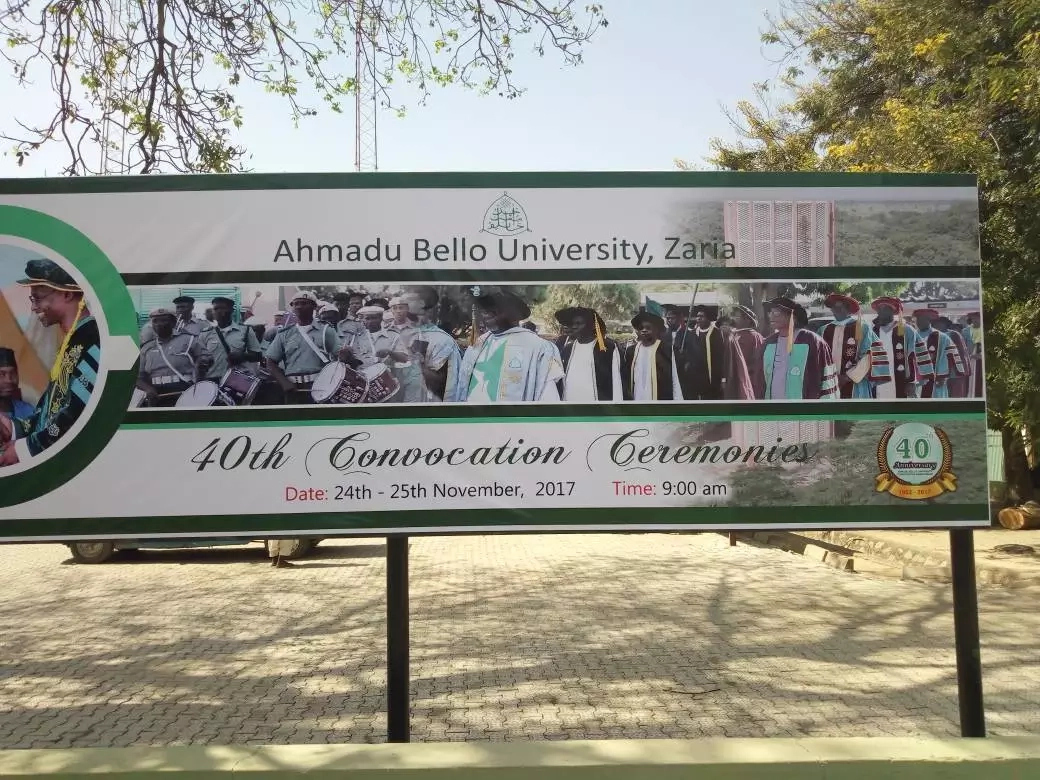 ABU Zaria's 40th convocation to hold 24th and 25th November [Check FULL List & Schedule Here]