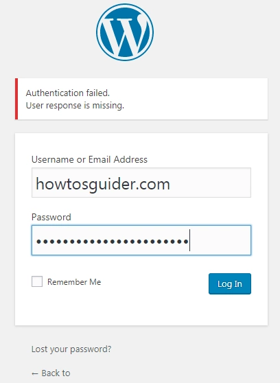 Authentication failed. User response is missing? Here is a FIX