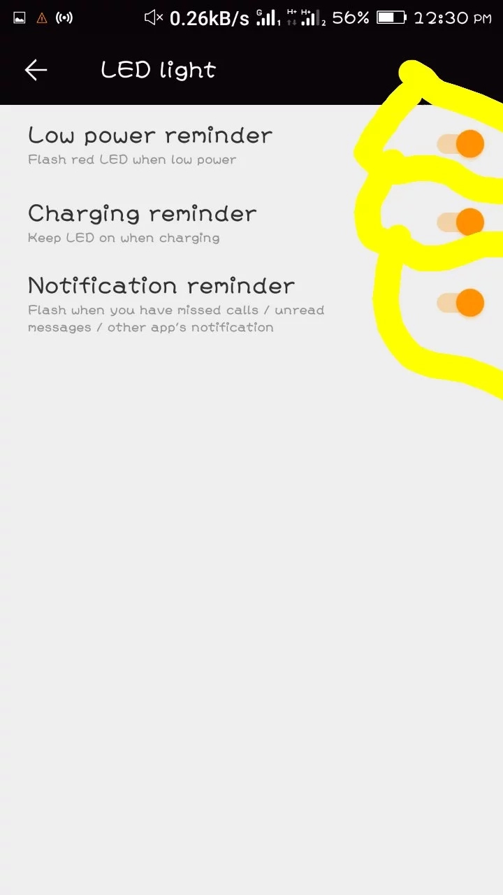 How to turn on or off led notification light on android phone