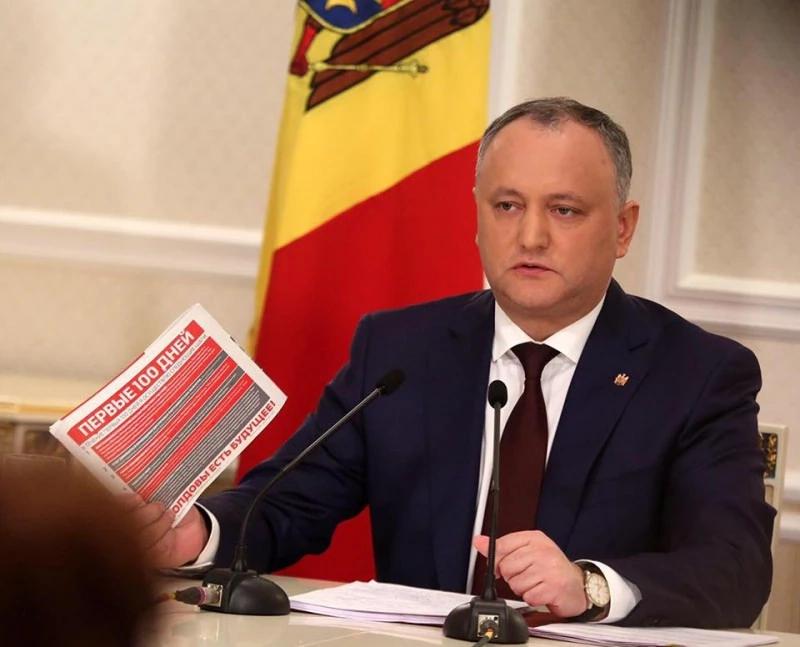 Raportul de activitate al președintelui Republicii Moldova Igor Dodon pentru primele 100 de zile de mandat