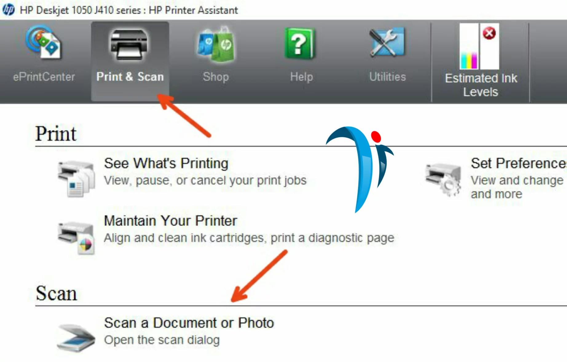 HP deskjet 1050 scanner software