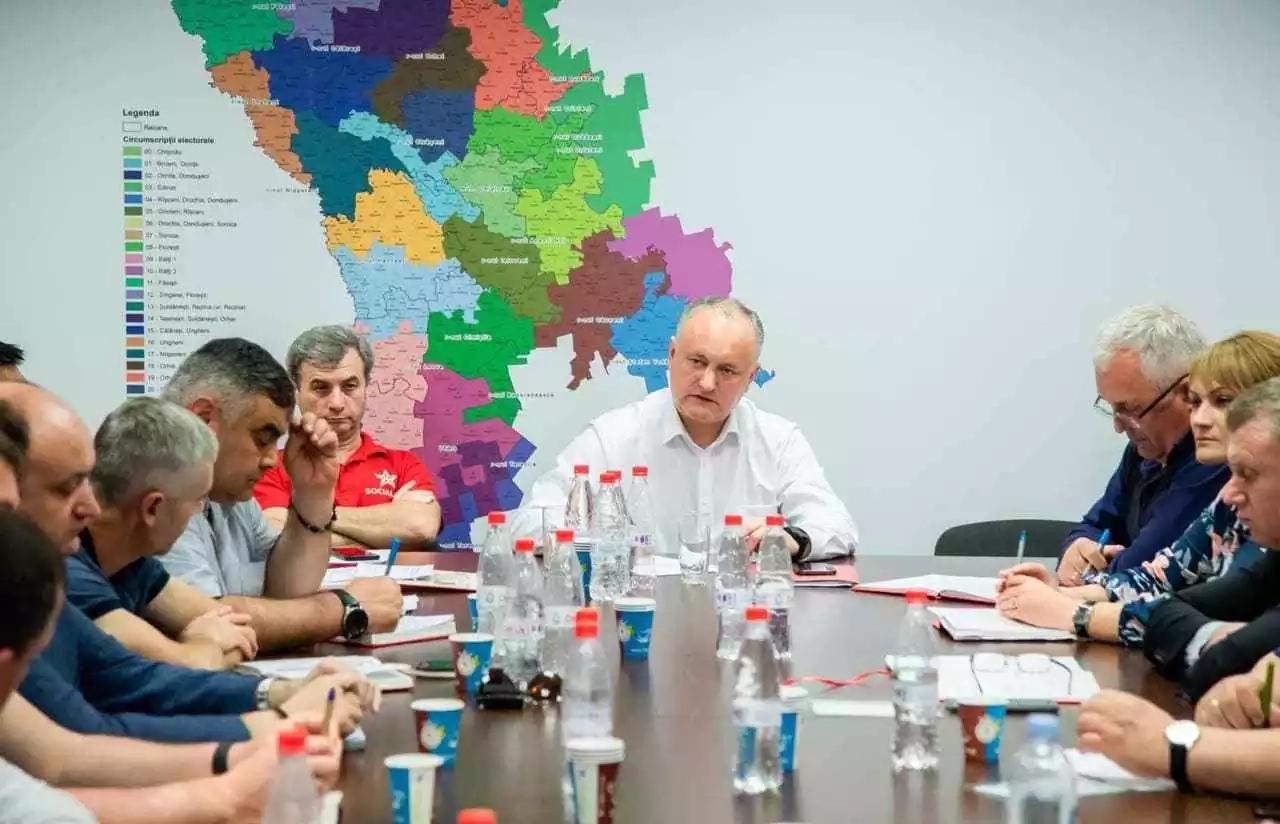 Igor Dodon a prezidat ședința staff-ului zonal Centru al BeCS
