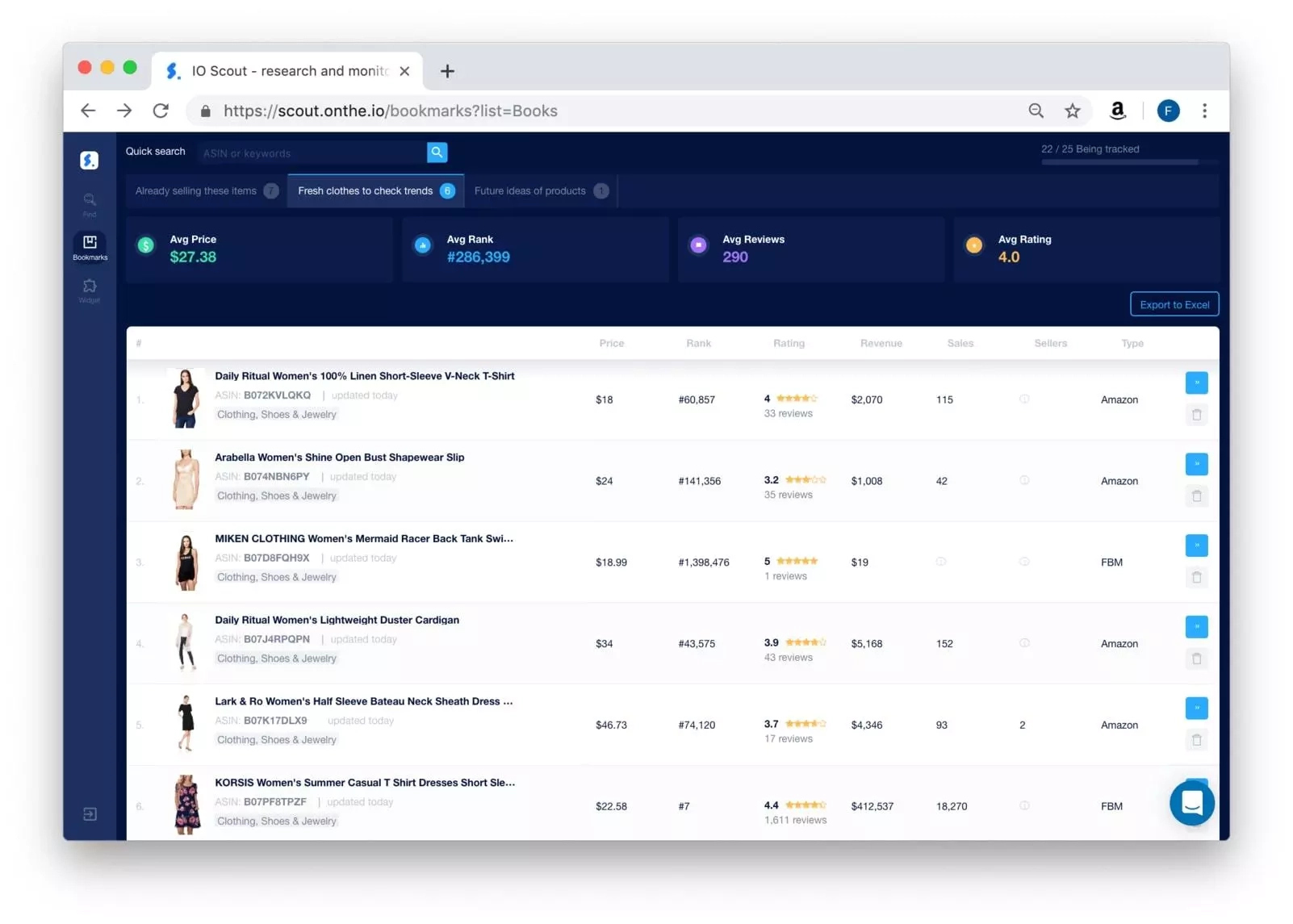 ioscout.io track products