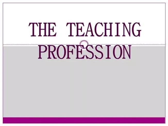 Register in the Teaching Profession and their Meaning