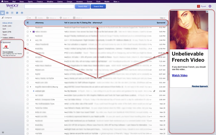 How to remove advertisements on Yahoo mail
