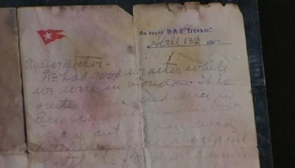 """""""Титаник"""" жолаўшысының анасына жазған хаты 166 мың долларға сатылды"""