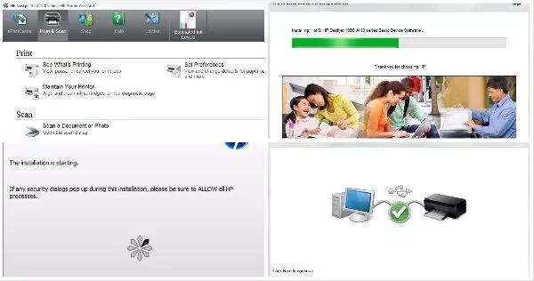 HP deskjet 1050 installation guide step-by-step
