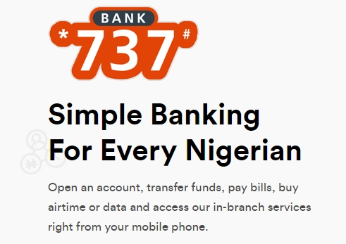Complete GTBank 737 product short codes for all 737 services