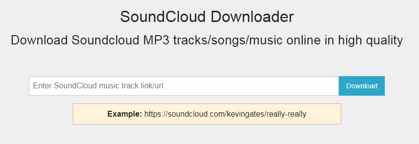 How to download SoundCloud audio file online