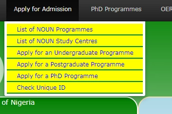 apply for admission in National Open University of Nigeria