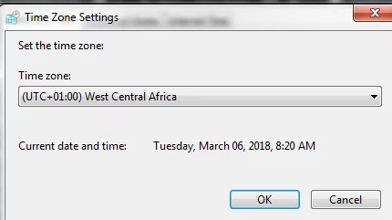 Windows 7 change time zone automatically