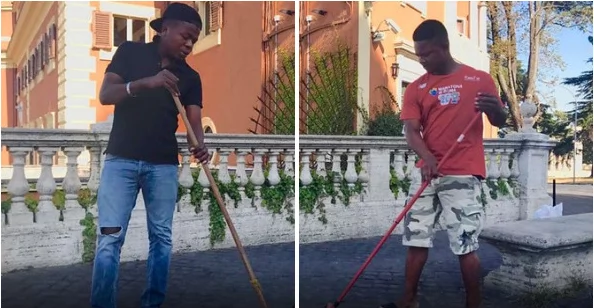 Meet The Nigerian Guys Who Sweep The Streets Of Italy In Order To Survive (Pics)
