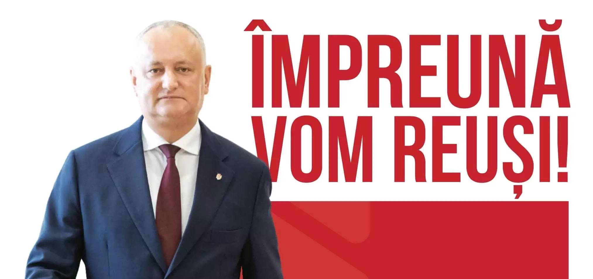 Igor Dodon – candidat la funcția de președinte al Republicii Moldova pentru alegerile prezidențiale din 1 noiembrie 2020