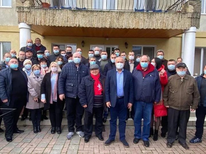 Igor Dodon a avut o întrevedere cu staff-urile PSRM