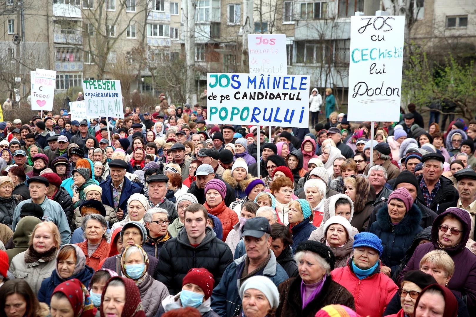 """Partidul """"Șor"""" suspendă protestul de la Curtea de Apel"""