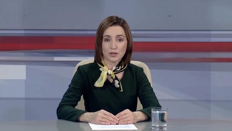 Adresarea președintelui ales Maia Sandu la televiziunea națională Moldova 1
