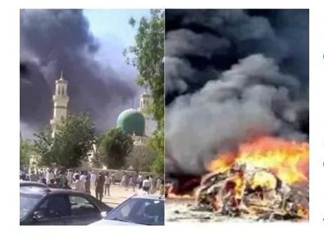 BREAKING: More SHOCKING Photos From Bomb explosion at University of Maiduguri mosque; professor, 5 students killed (photo)