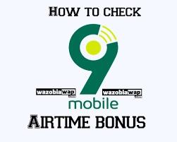 How To Check 9mobile Bonus Balance