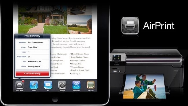 HP printers that support AirPrint