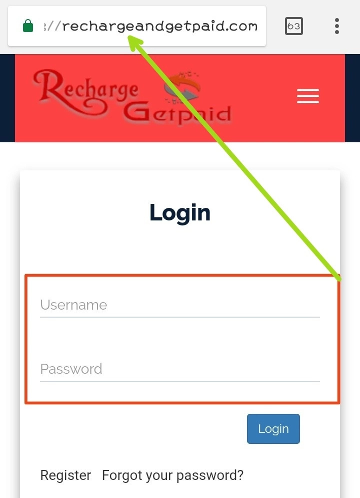 Recharge and get paid login