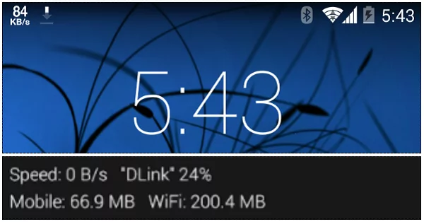 How to show internet speed on status bar with an app