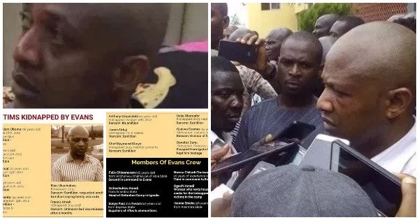 List Of Victims Kidnapped By Evans And Identities Of His Gang Members