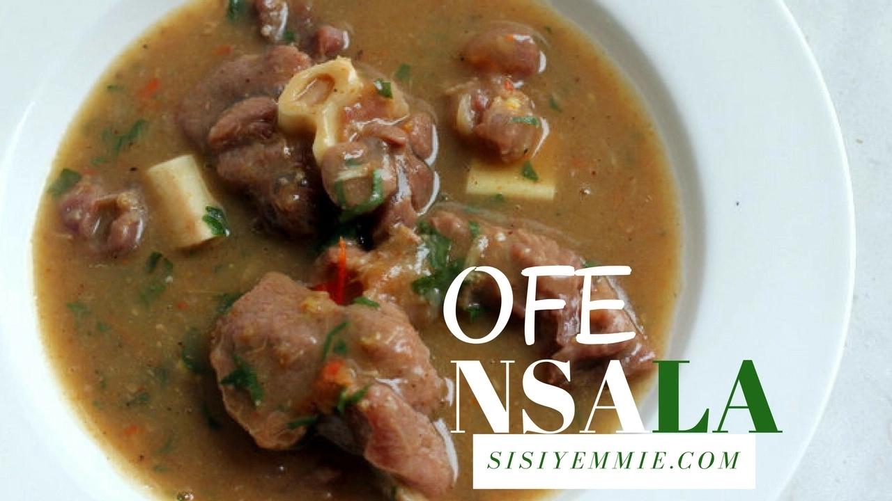 Nsala Soup Preparation