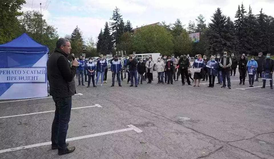 Renato Usatîi în raionul Dondușeni