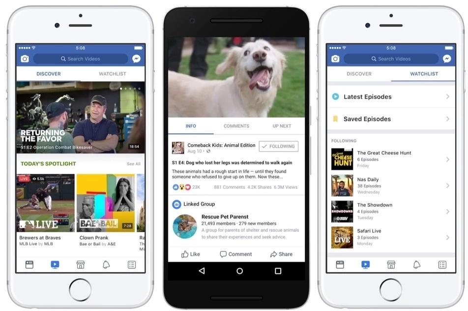 Facebook watch screenshots: a new trend for video