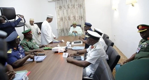 Buhari meet Security Chiefs in Aso Rock Abuja - See Photos