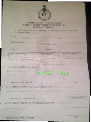 NYSC redeployment letter sample