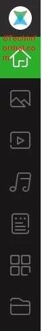 xender on PC navigation menu