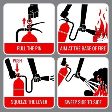 P.A.S.S Fire Safety (How to Use Fire Extinguisher)