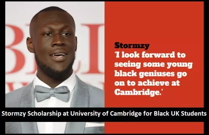 $18,000 Stormzy Undergraduate Scholarship at University of Cambridge in UK, 2018