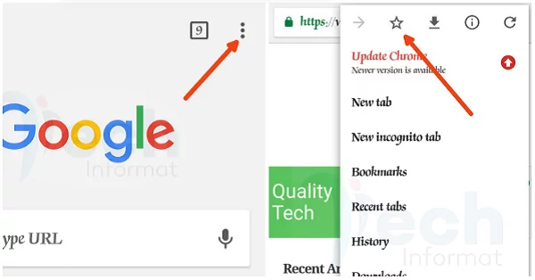 How to bookmark in Chrome Android