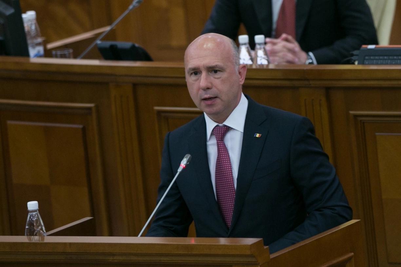 Pavel Filip la prezentarea Raportului de activitate al Guvernului pe anul 2016