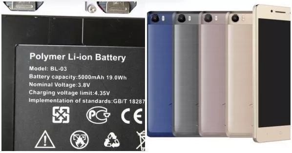 Tecno phones with 5000mAh battery