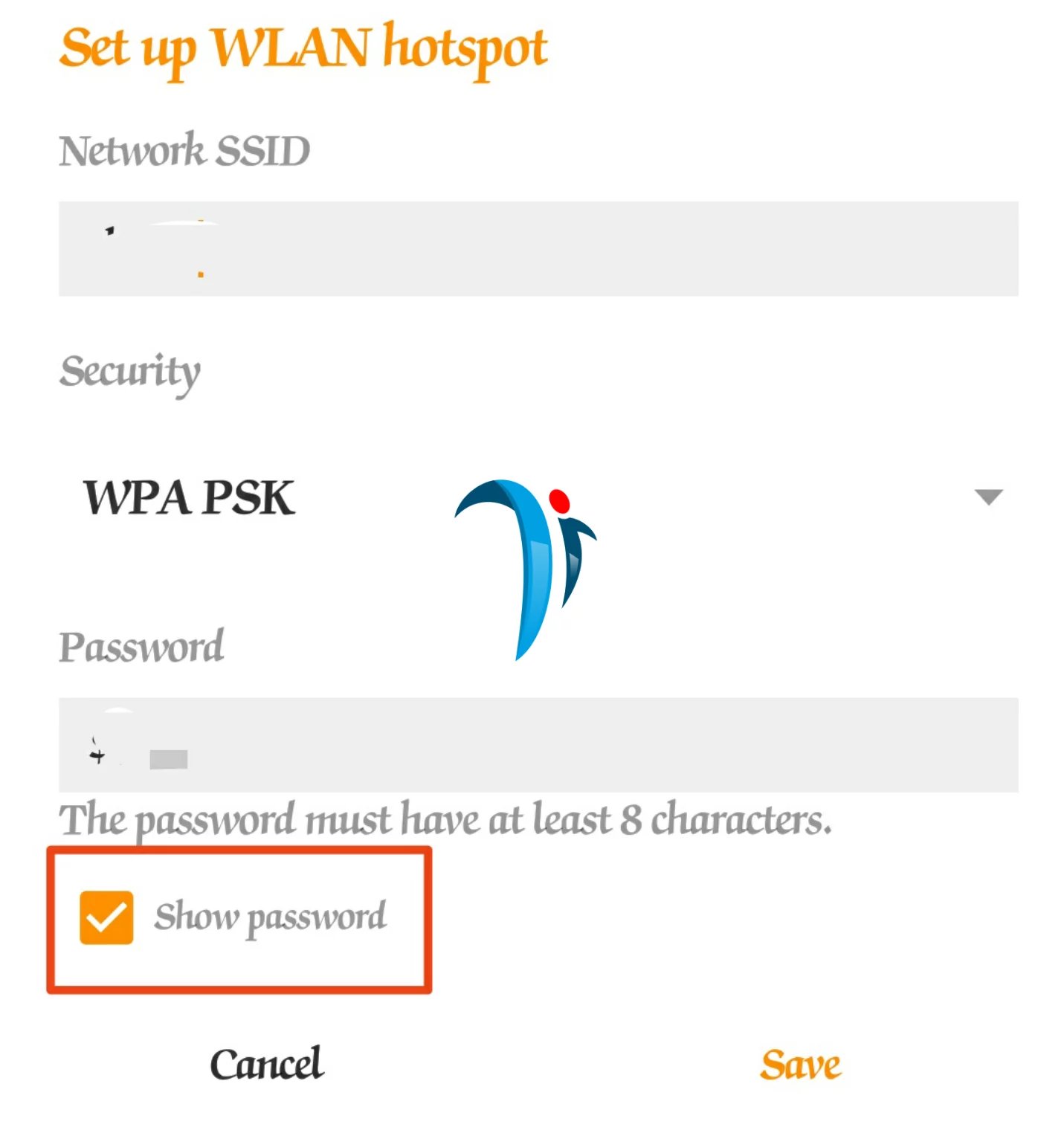 connect Hotspot from phone to photo